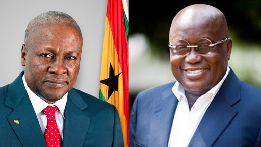 John Mahama and Nana Addo